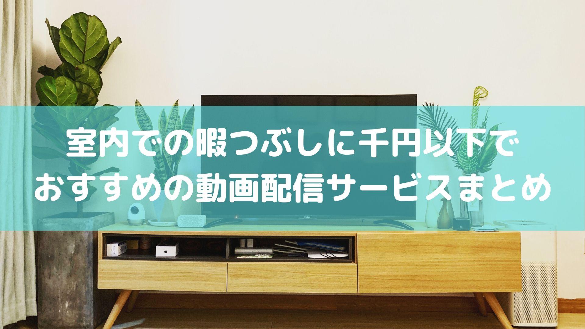 室内での暇つぶしに千円以下で おすすめの動画配信サービスまとめ