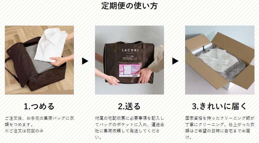LACURI(ラクリ)定期便の使い方